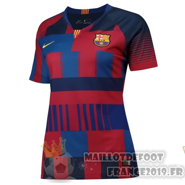 Maillot De Foot Nike Maillots Femme Barcelona 20th Bleu Rouge