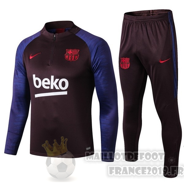 Maillot De Foot Nike Survêtements Enfant Barcelona 2019 2020 Rouge Marine Purpura
