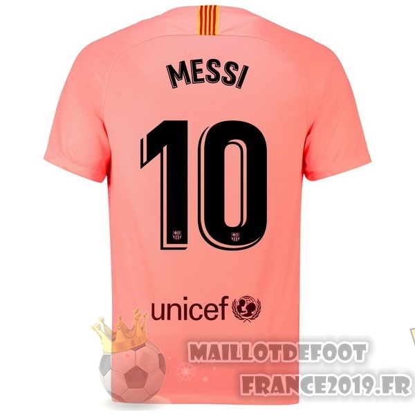 Maillot De Foot Nike NO.10 Messi Third Maillots Barcelona 18-19 Rouge
