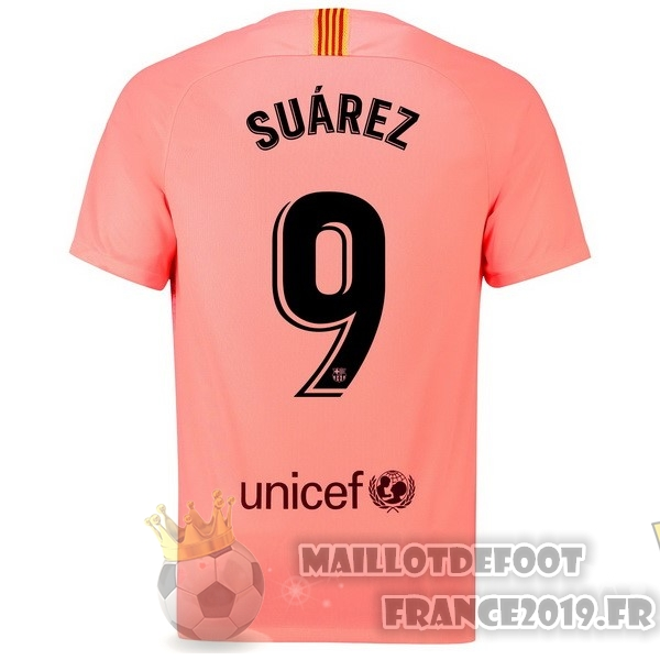 Maillot De Foot Nike NO.9 Suarez Third Maillots Barcelona 18-19 Rouge