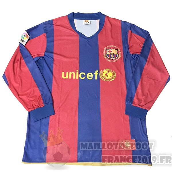 Maillot De Foot Nike Maillot Manches Longues Barcelona 50Th Bleu Rouge