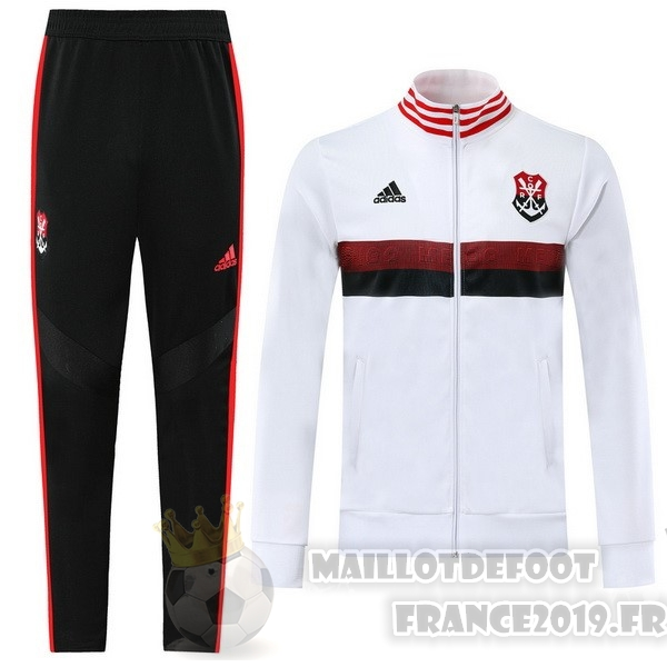 Maillot De Foot adidas Survêtements Flamengo 2019 2020 Blanc Rouge