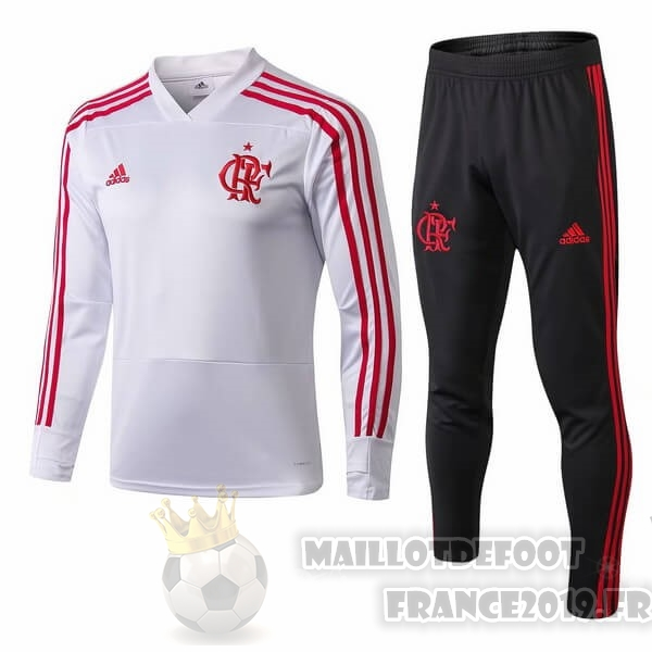 Maillot De Foot adidas Survêtements Flamengo 2018 2019 Blanc Rouge