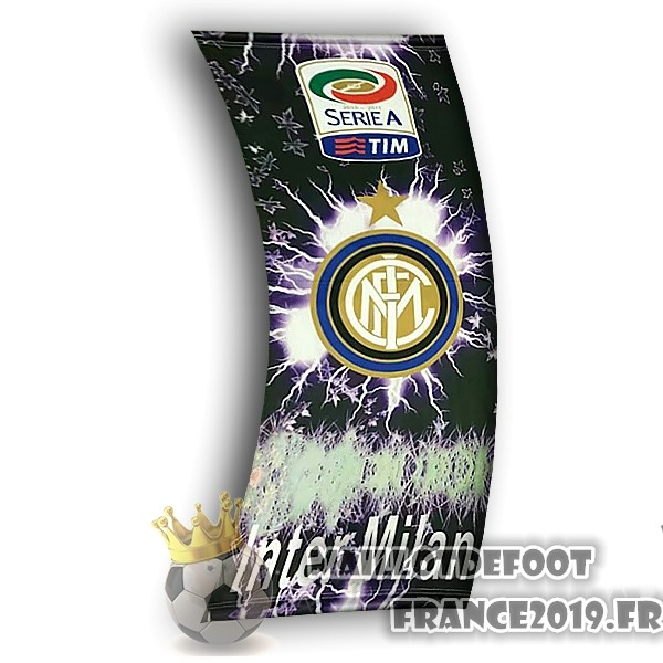 Maillot De Foot Football Drapeau de Inter Milan Noir