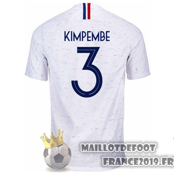 Maillot De Foot Nike NO.3 Kimpembe Exterieur Maillots France 2018 Blanc