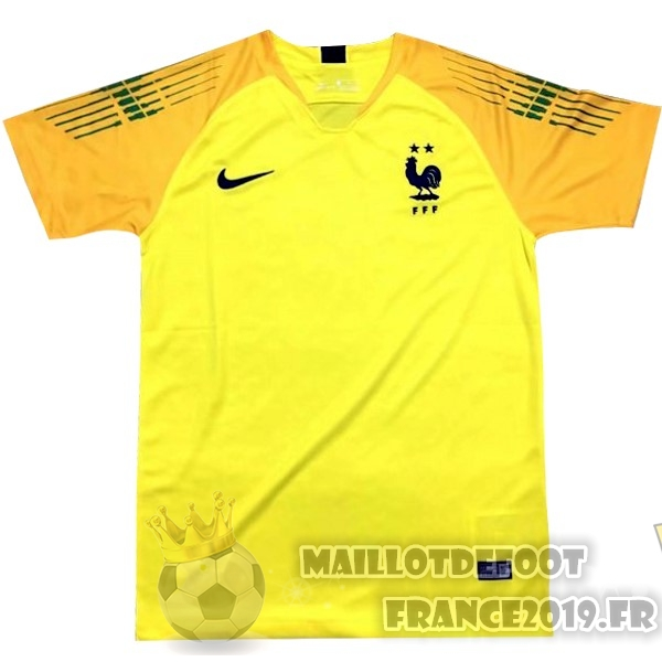 Maillot De Foot Nike Maillots Gardien France 2018 Jaune