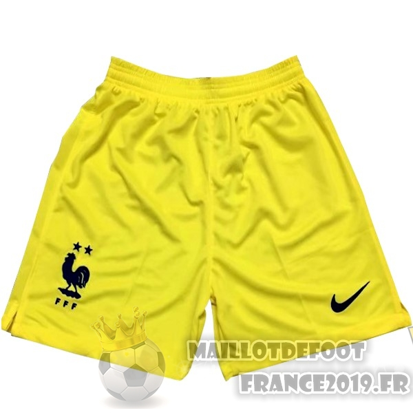 Maillot De Foot Nike Shorts Gardien France 2018 Jaune