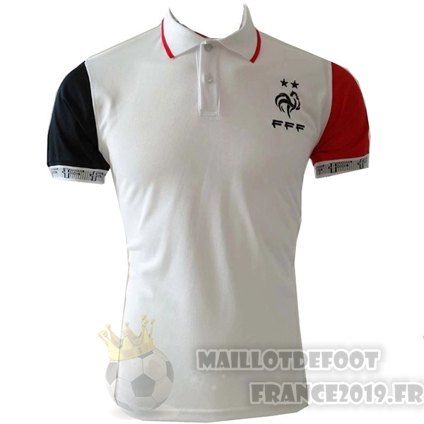 Maillot De Foot Nike Polo France 2019 Blanc Rouge