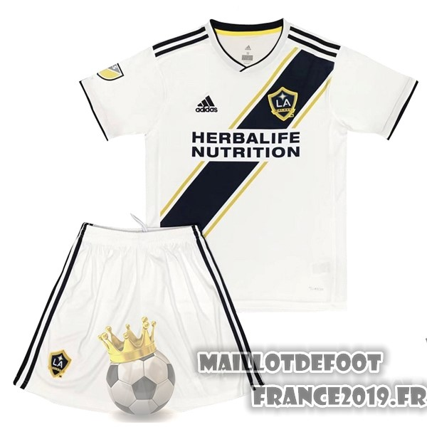 Maillot De Foot adidas Domicile Ensemble Enfant Galaxy de Los Angeles 2017-2018 Blanc