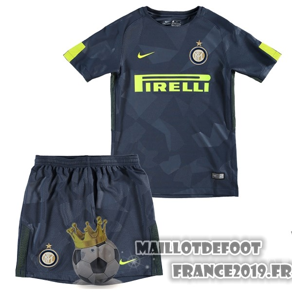 Maillot De Foot Nike Third Ensemble Enfant Internazionale Milano 2017-2018 Bleu