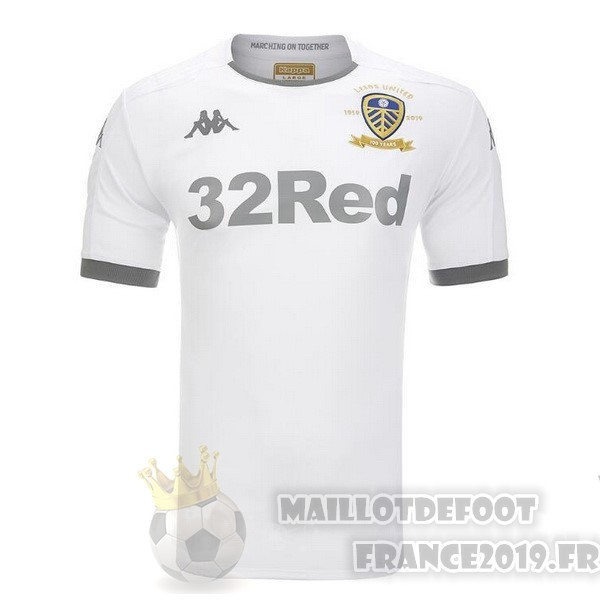 Maillot De Foot Kappa Domicile Maillot Leeds United 2019 2020 Blanc