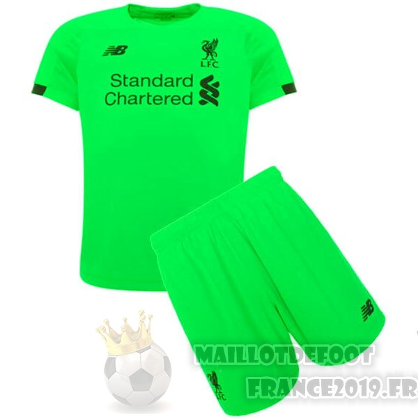 Maillot De Foot New Balance Gardien Ensemble Enfant Liverpool 2019 2020 Vert