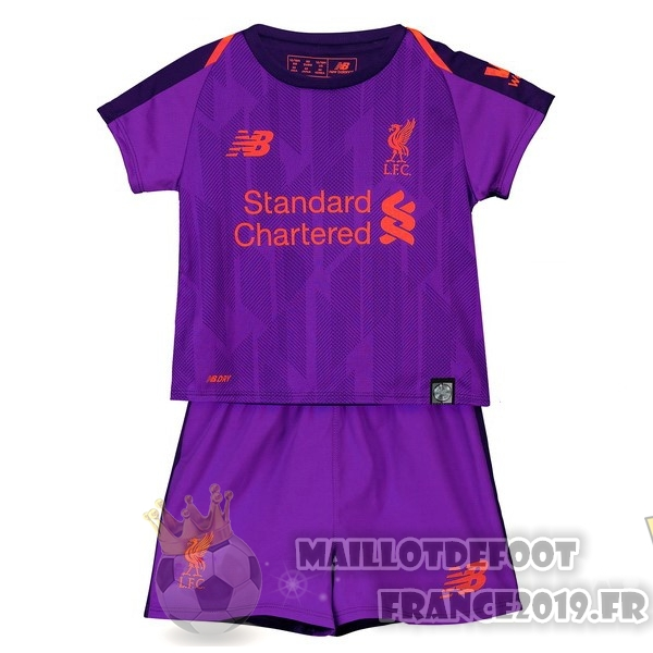 Maillot De Foot New Balance Exterieur Ensemble Enfant Liverpool 2018-2019 Purpura