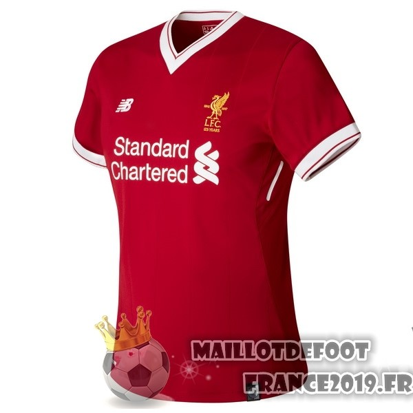 Maillot De Foot New Balance Domicile Maillots Femme Liverpool 2017-2018 Rouge
