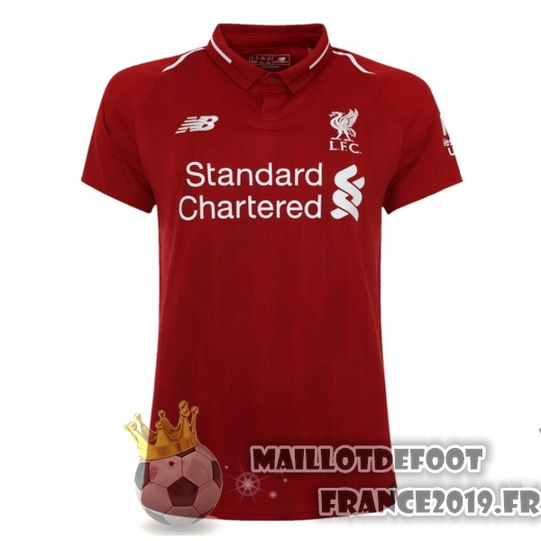 Maillot De Foot New Balance Domicile Maillots Femme Liverpool 2018-2019 Rouge