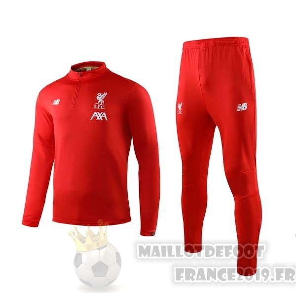 Maillot De Foot New Balance Survêtements Enfant Liverpool 2019 2020 Rouge Blanc