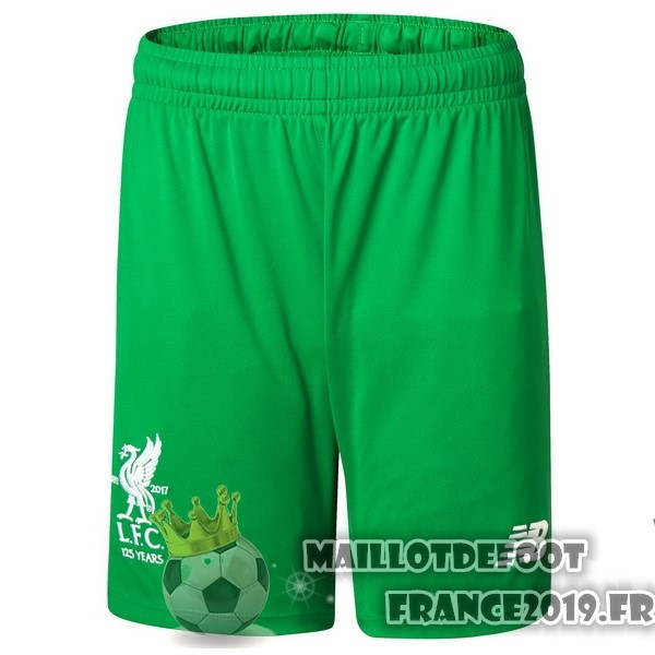 Maillot De Foot New Balance Domicile Shorts Gardien Liverpool 2017-2018 Vert