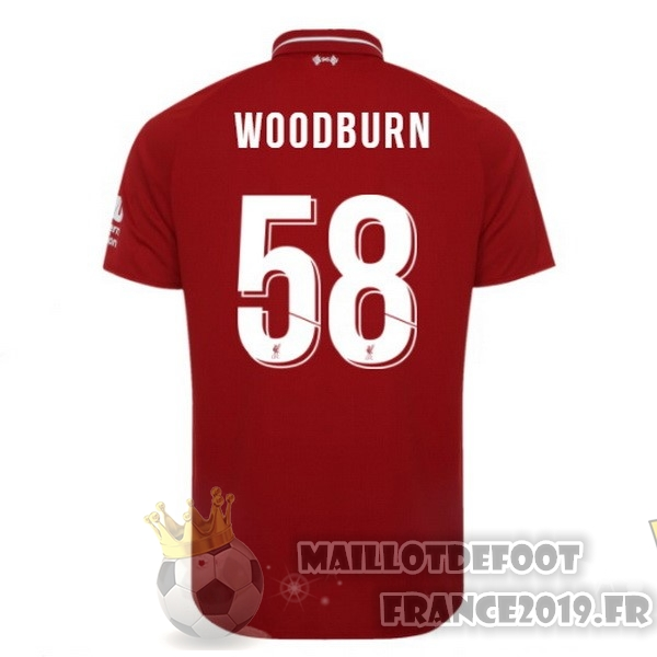 Maillot De Foot New Balance NO.58 Woodburn Domicile Maillots Liverpool 2018-2019 Rouge