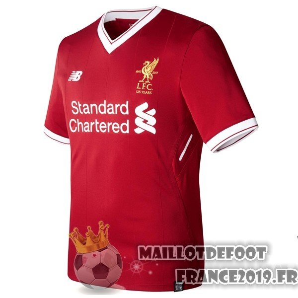 Maillot De Foot New Balance Thailande Domicile Maillots Liverpool 2017-2018 Rouge