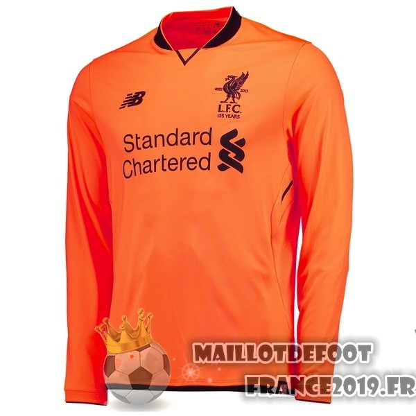 Maillot De Foot New Balance Third Manches Longues liverpool 2017-2018 Orange