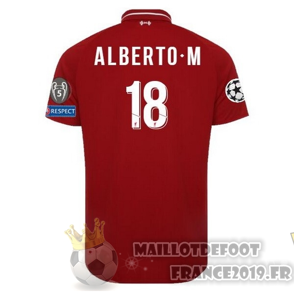 Maillot De Foot New Balance NO.18 Alberto.M Domicile Maillots Liverpool 18-19 Rouge