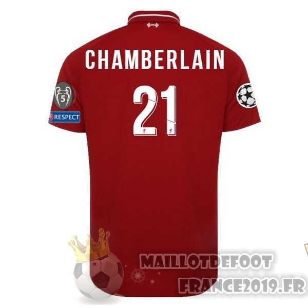 Maillot De Foot New Balance NO.21 Chamberlain Domicile Maillots Liverpool 18-19 Rouge