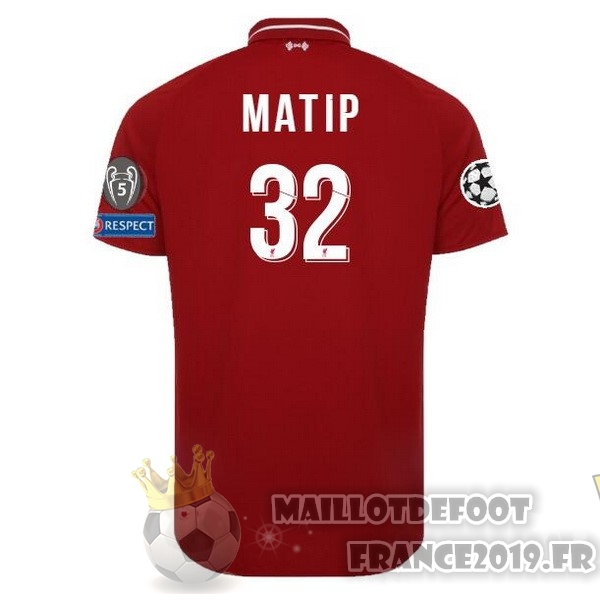 Maillot De Foot New Balance NO.32 Matip Domicile Maillots Liverpool 18-19 Rouge
