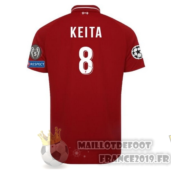 Maillot De Foot New Balance NO.8 Keita Domicile Maillots Liverpool 18-19 Rouge