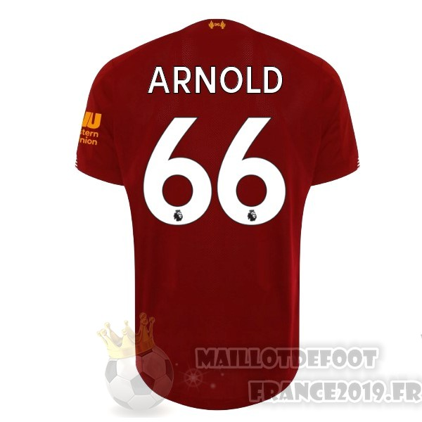 Maillot De Foot New Balance NO.66 Arnold Domicile Maillot Liverpool 2019 2020 Rouge