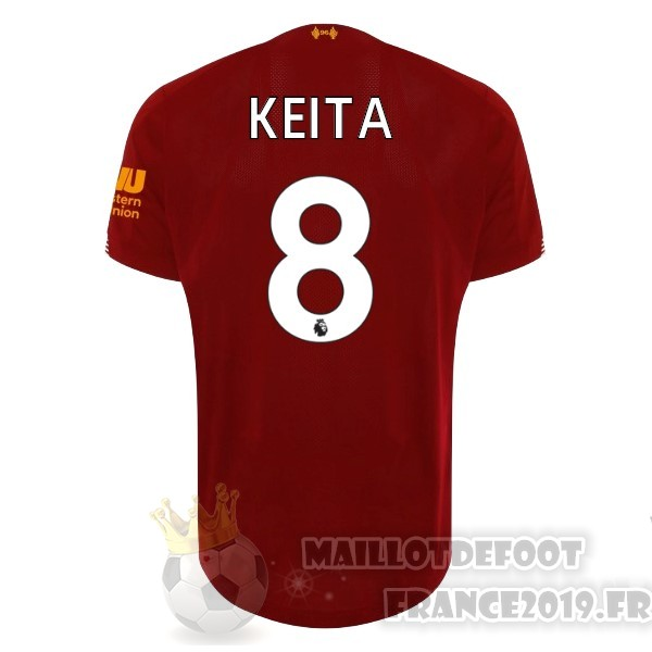 Maillot De Foot New Balance NO.8 Keita Domicile Maillot Liverpool 2019 2020 Rouge