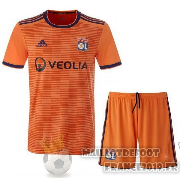 Maillot De Foot adidas Third Ensemble Enfant Lyonnais 2018-2019 Orange