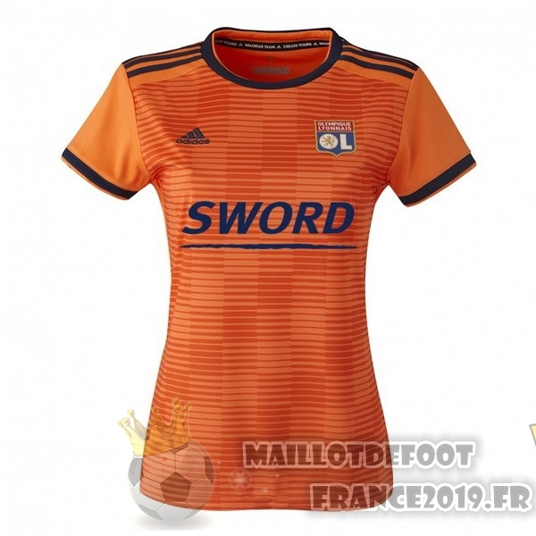 Maillot De Foot adidas Third Maillots Femme Lyonnais 2018-2019 Orange