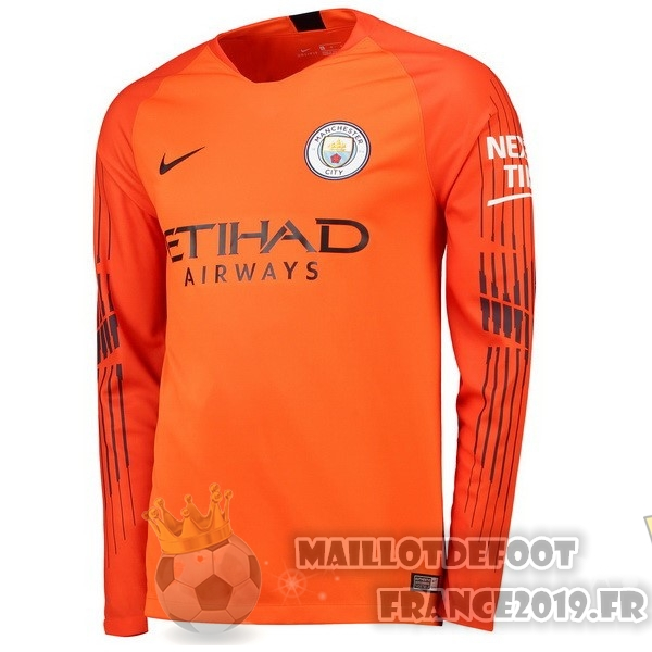 Maillot De Foot Nike Manches Longues Gardien Manchester City 18-19 Orange