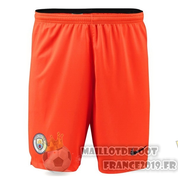 Maillot De Foot Nike Shorts Gardien Manchester City 18-19 Orange
