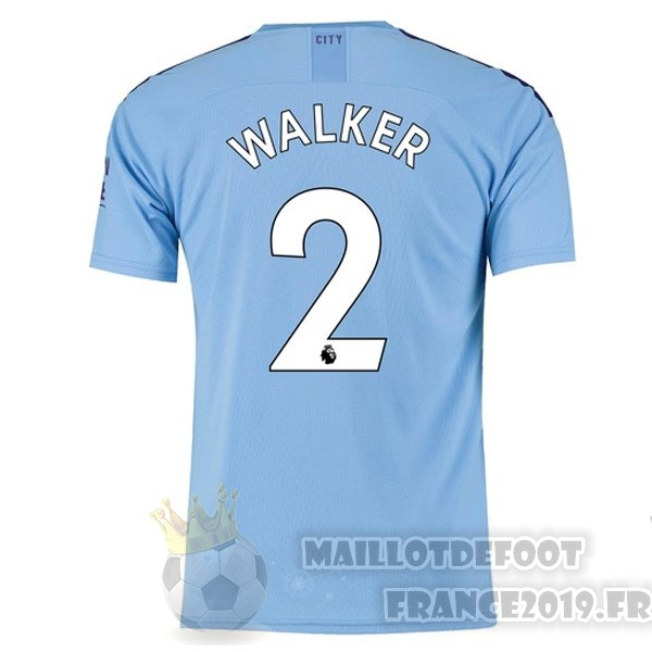 Maillot De Foot PUMA NO.2 Walker Domicile Maillot Manchester City 2019 2020 Bleu