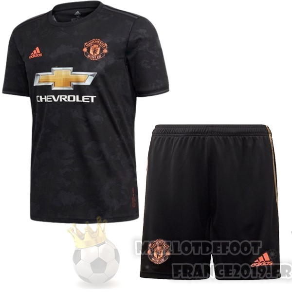 Maillot De Foot Adidas Third Ensemble Enfant Manchester United 2019 2020 Noir