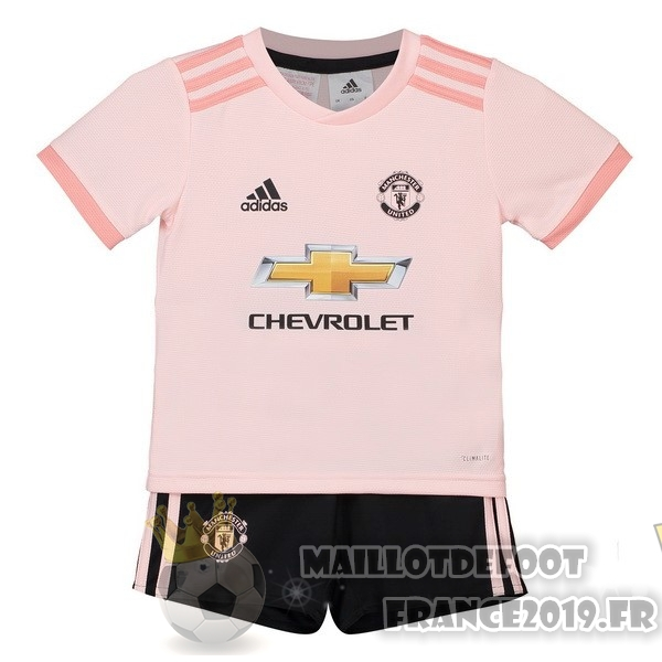 Maillot De Foot adidas Exterieur Ensemble Enfant Manchester United 2018-2019 Rose