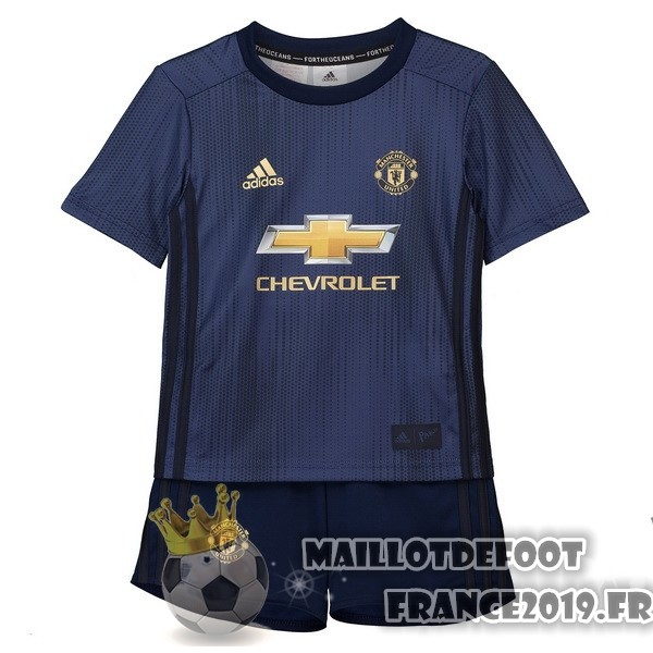 Maillot De Foot adidas Third Ensemble Enfant Manchester United 2018-2019 Bleu