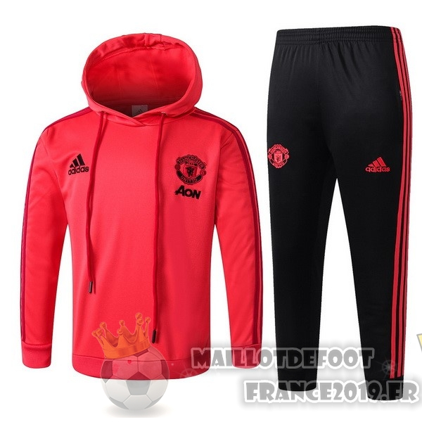 Maillot De Foot adidas Survêtements Enfant Manchester United 18-19 Rouge