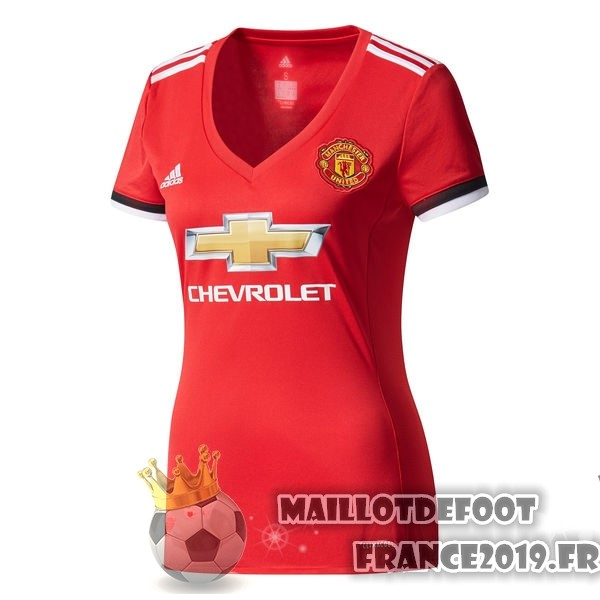 Maillot De Foot adidas Domicile Maillots Femme Manchester United 2017-2018 Rouge