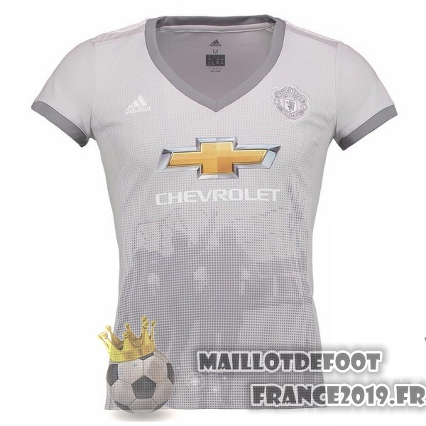 Maillot De Foot adidas Third Maillots Femme Manchester United 2017-2018 Gris
