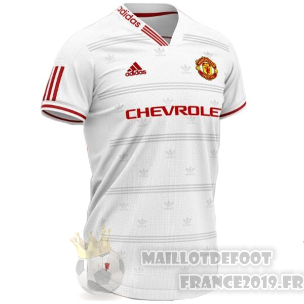 Maillot De Foot Adidas Concept Maillot Manchester United 2019 2020 Blanc Rouge