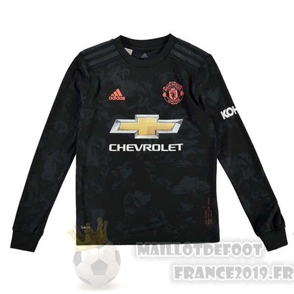 Maillot De Foot adidas Third Manches Longues Manchester United 2019 2020 Noir