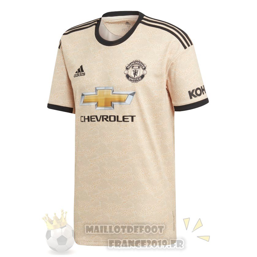 Maillot De Foot Adidas Thailande Exterieur Maillot Manchester United 2019 2020 Amarillo