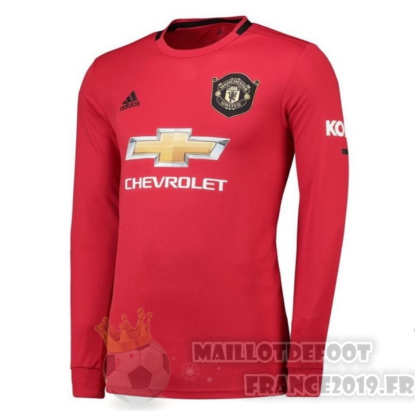 Maillot De Foot adidas Domicile Manches Longues Manchester United 2019 2020 Rouge