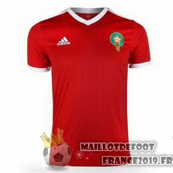 Maillot De Foot adidas Domicile Maillots Maroc 2018 Rouge