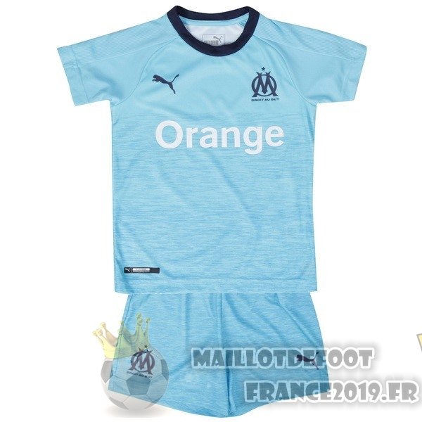 Maillot De Foot PUMA Third Ensemble Enfant Marseille 2018-2019 Bleu