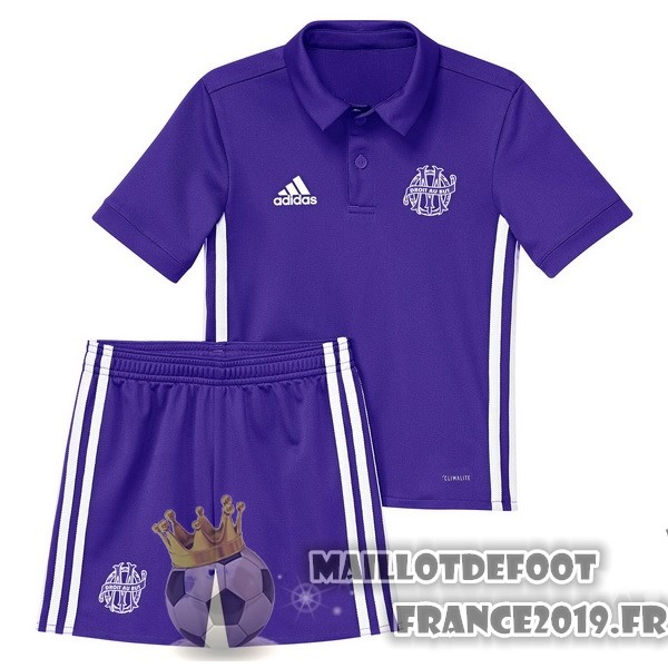 Maillot De Foot adidas Third Ensemble Enfant Marseille 2017-2018 Purpura