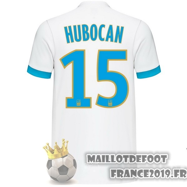 Maillot De Foot adidas NO.15 Hubocan Domicile Maillots Marseille 2017-2018 Blanc