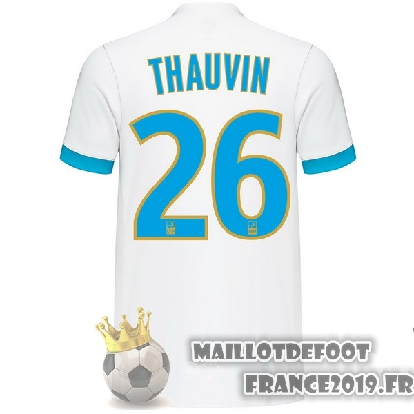 Maillot De Foot adidas NO.26 Thauvin Domicile Maillots Marseille 2017-2018 Blanc